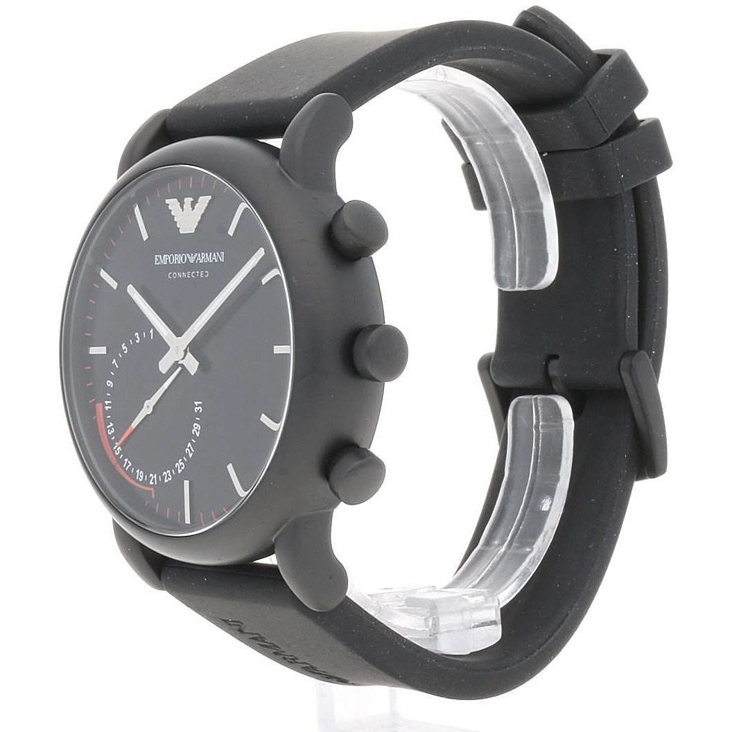 Watches Emporio armani mens rubber hybrid smart watch