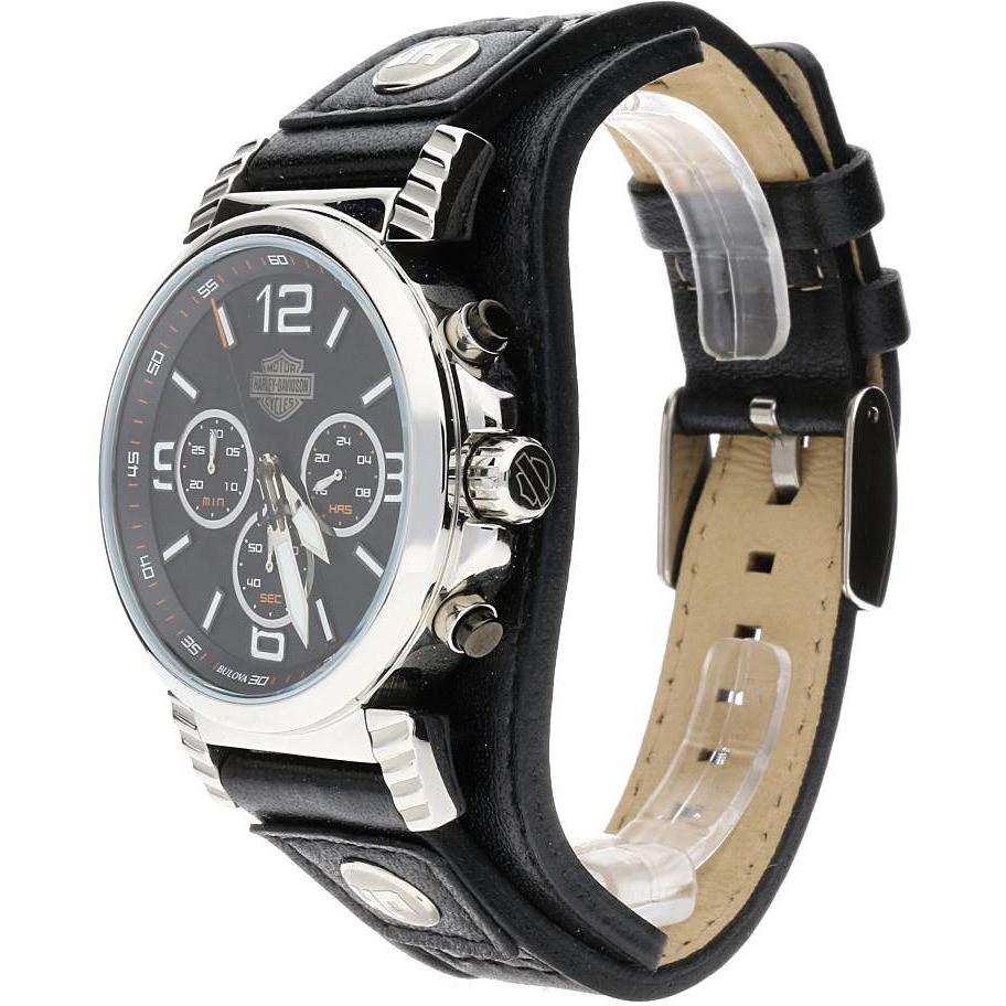 9cd54b2e3a8 watch multifunction man Harley Davidson 76B173 multifunction Harley ...