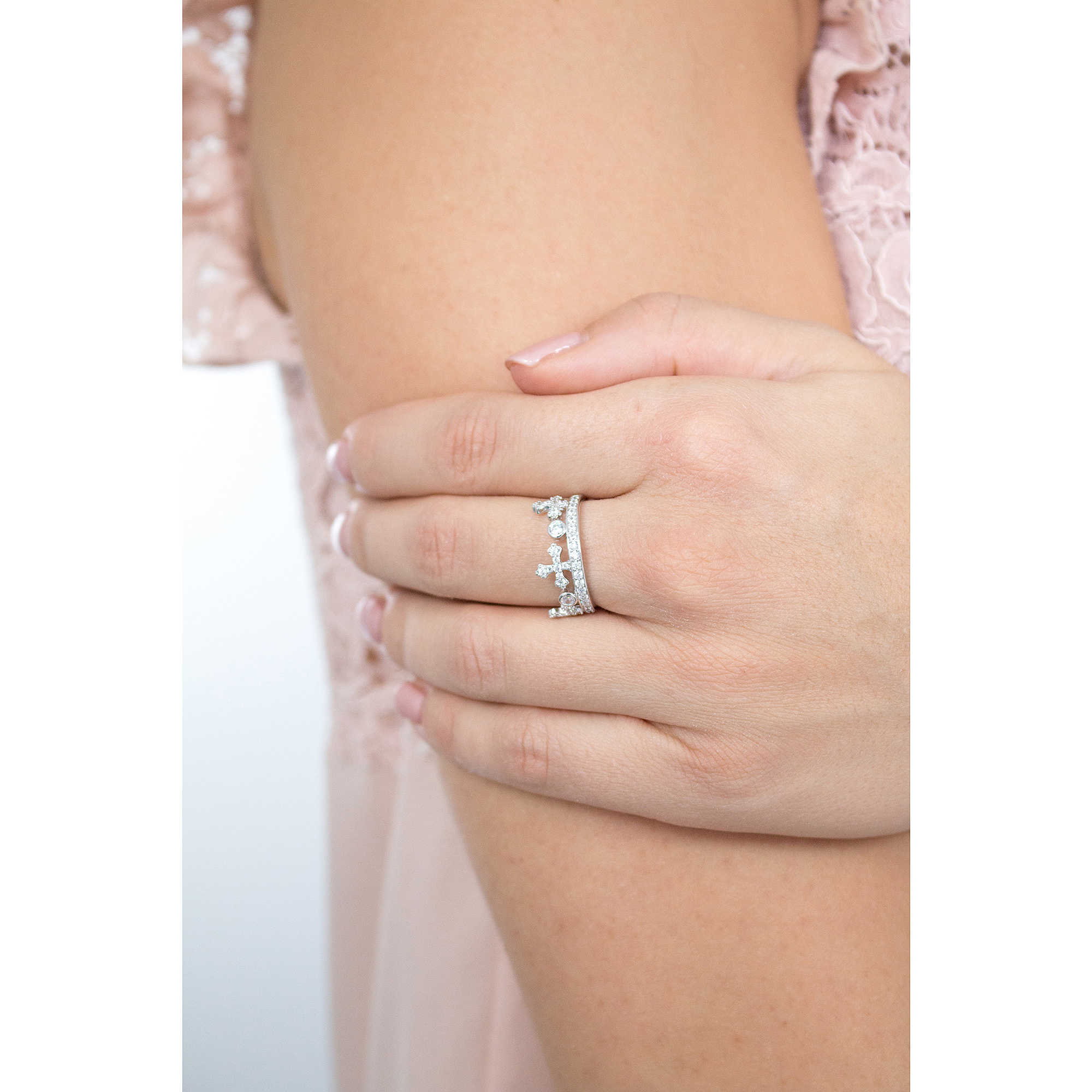 08cd8d1643b5db anello donna gioielli Amen Corone AC1-16 anelli Amen