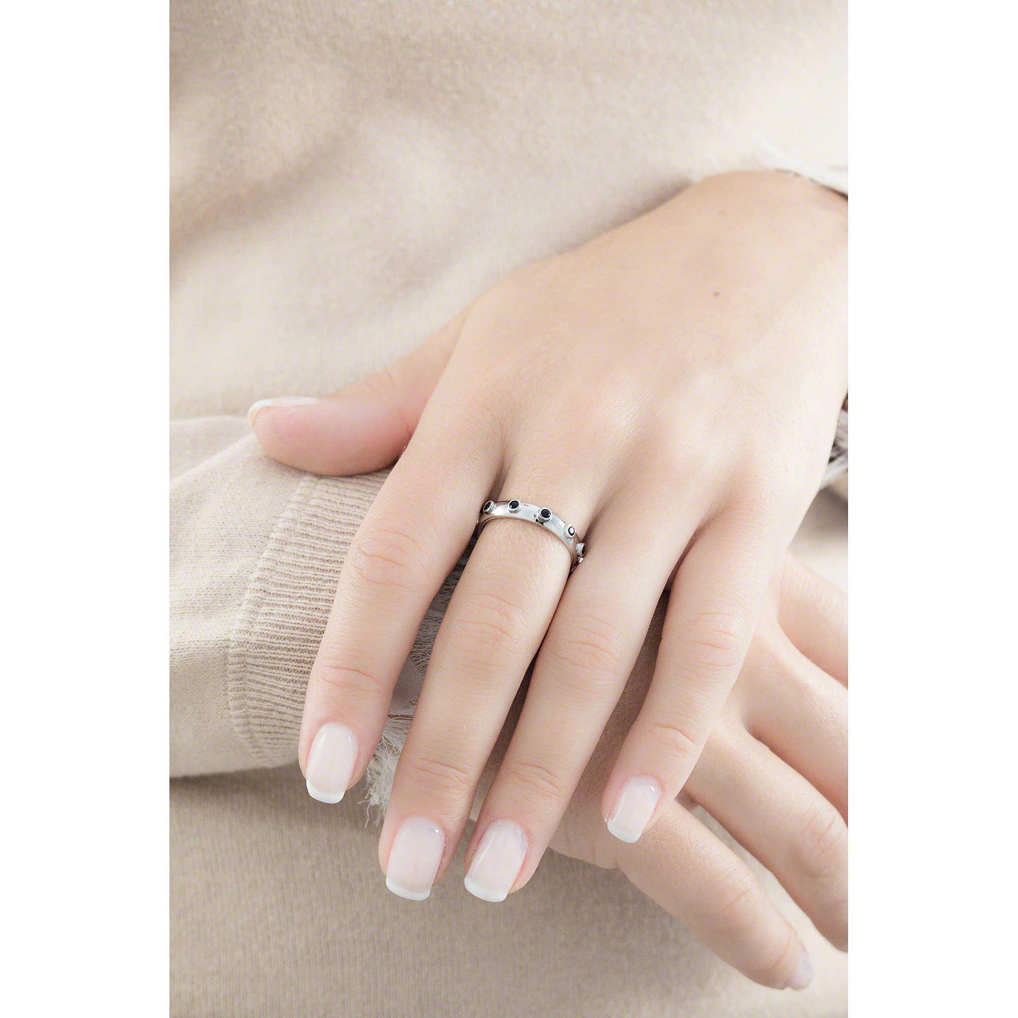 3ad4849f512c7f anello donna gioielli Amen Rosario AROBN-12 anelli Amen