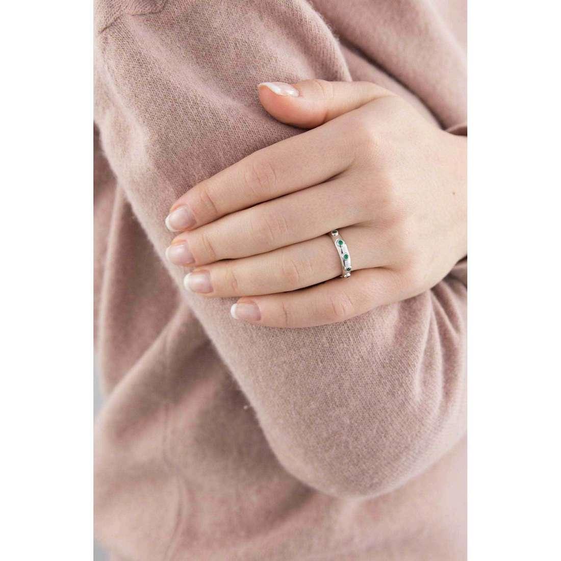 Amen anelli Rosario donna AROBV-16 indosso