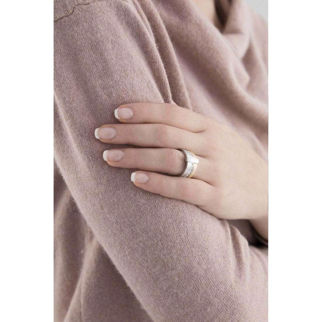 Breil anelli Breilogy donna TJ1326 indosso
