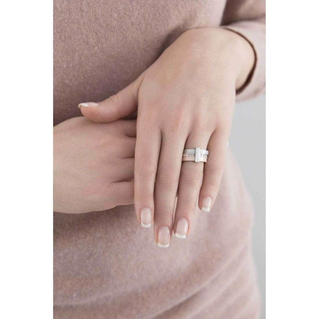 Breil anelli Breilogy donna TJ1423 indosso