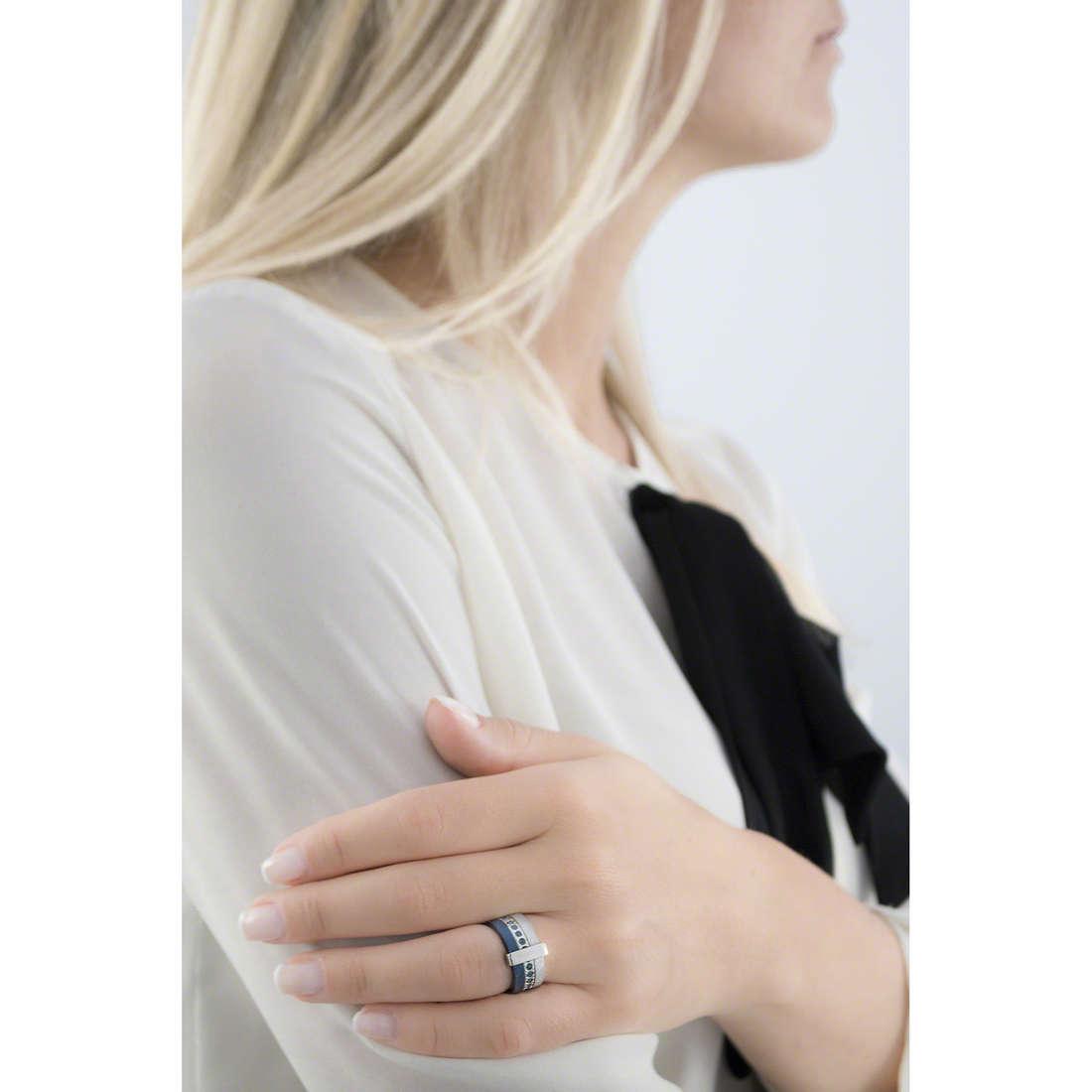 Breil anelli Breilogy donna TJ1424 indosso