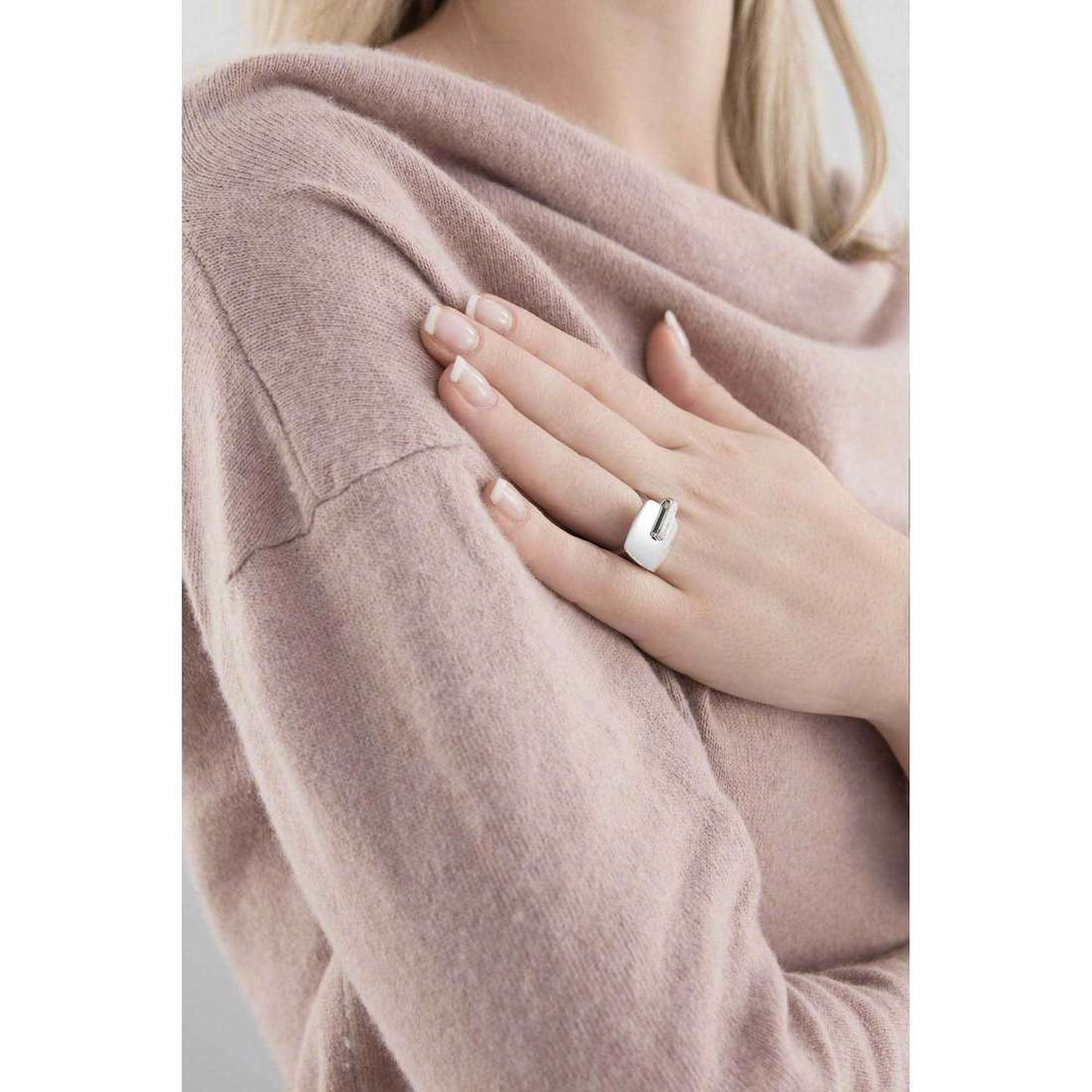Breil anelli New Blast donna TJ1617 indosso