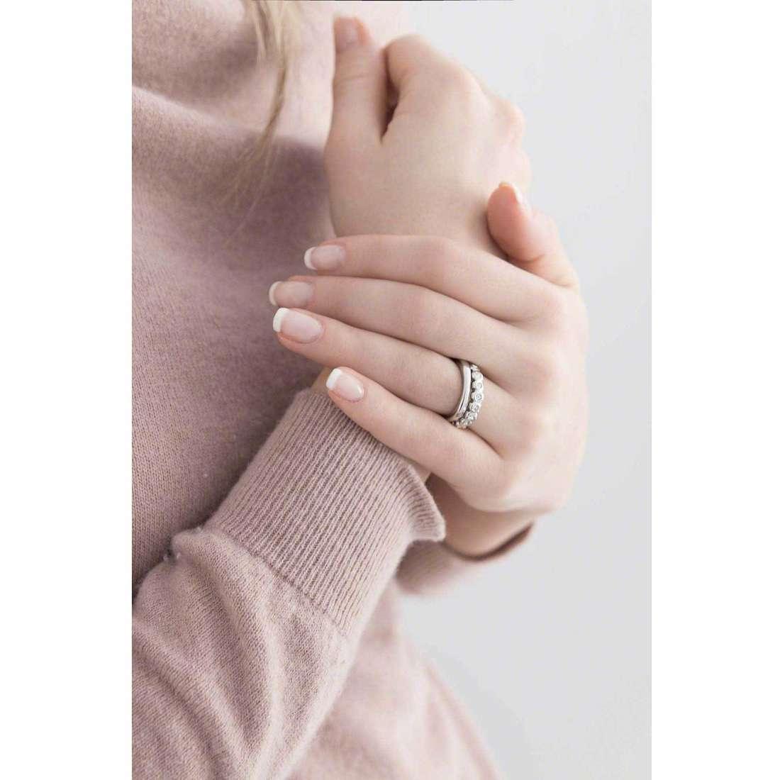 Breil anelli Rolling Diamonts donna TJ1541 indosso