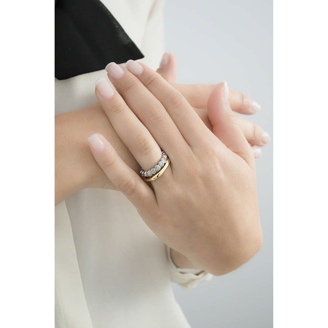 Breil anelli Rolling Diamonts donna TJ1544 indosso