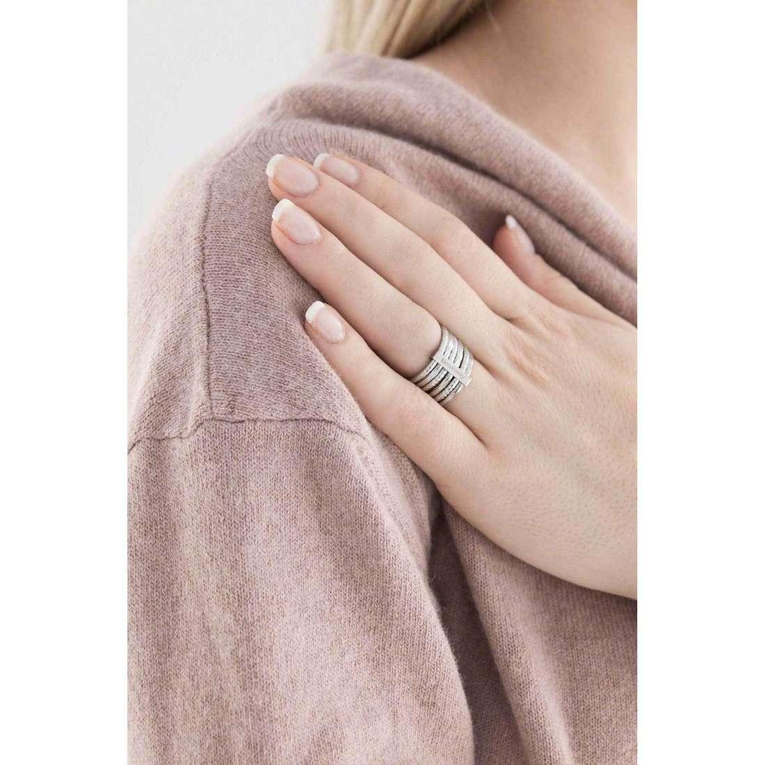 Brosway anelli Falling Star donna BFG31A indosso