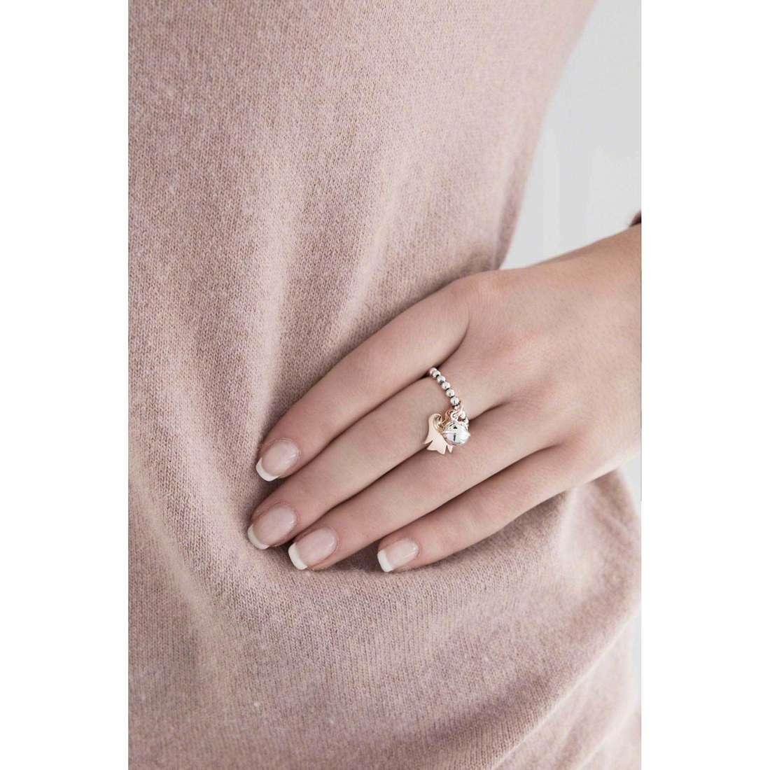 Giannotti anelli Chiama Angeli donna GIA243-13-15 indosso