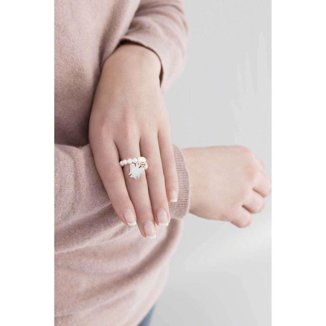 Giannotti anelli Chiama Angeli donna GIA252-13-15 indosso