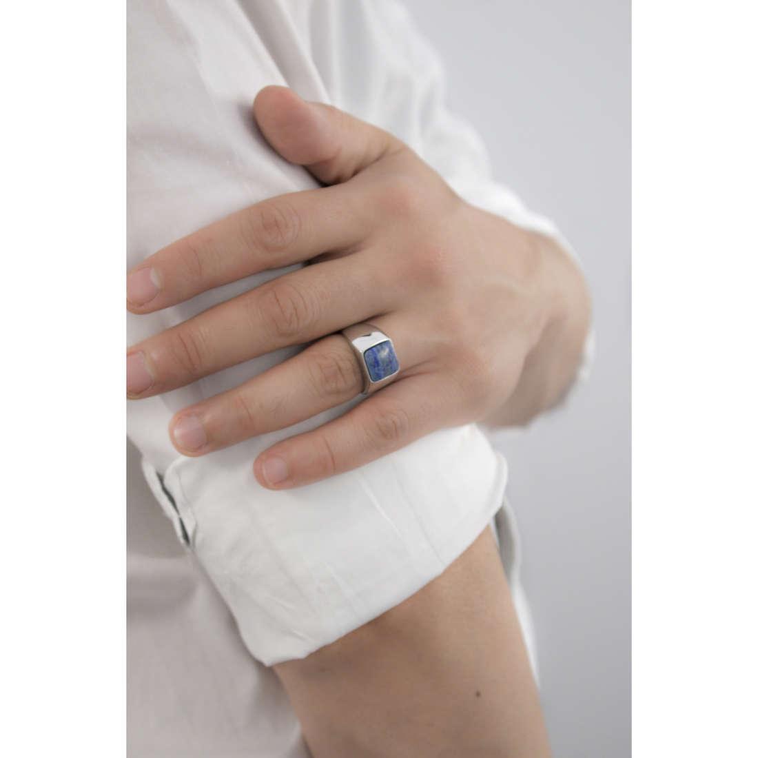 Marlù anelli Man Trendy uomo 4AN0135B-20 indosso