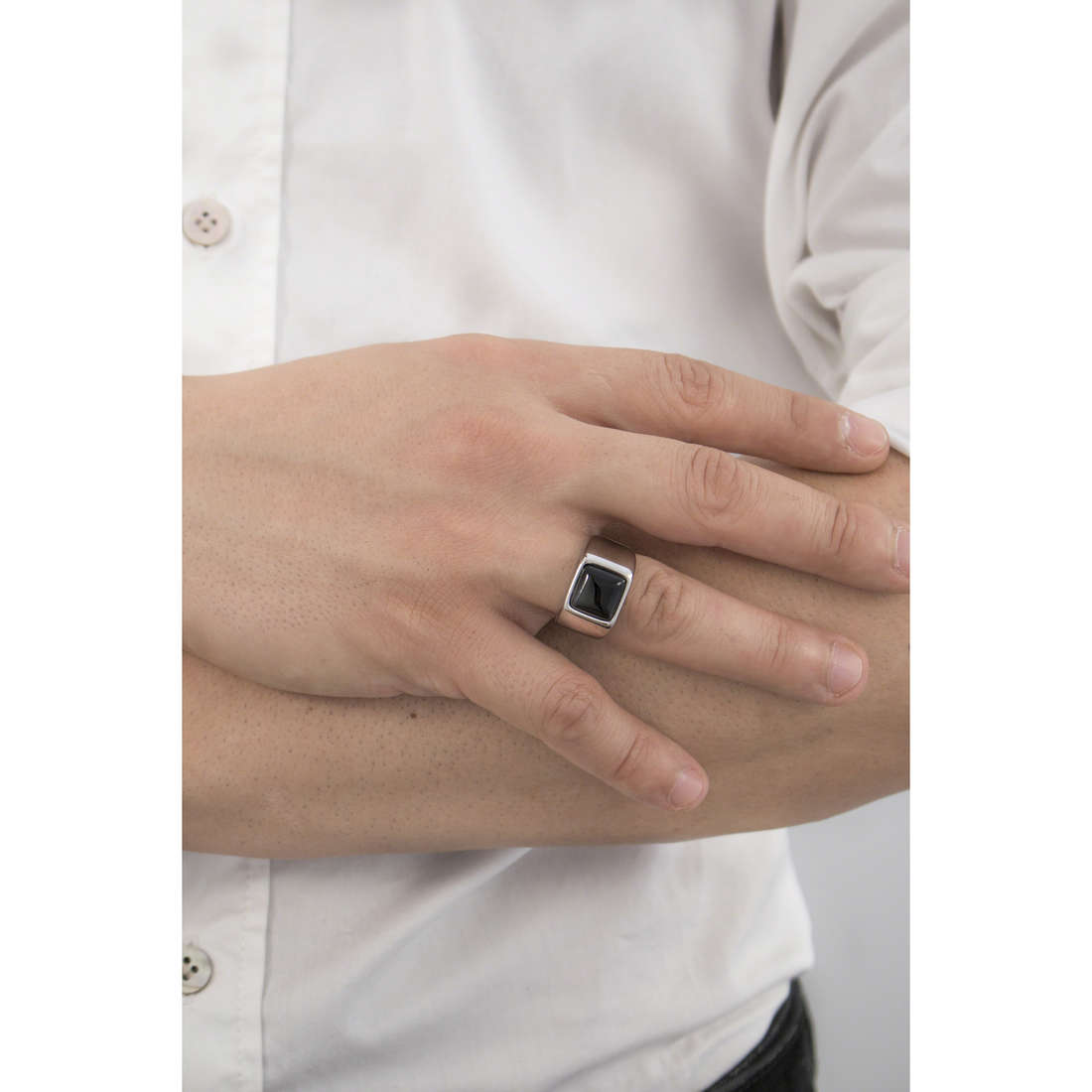 Marlù anelli Man Trendy uomo 4AN0135N-20 indosso