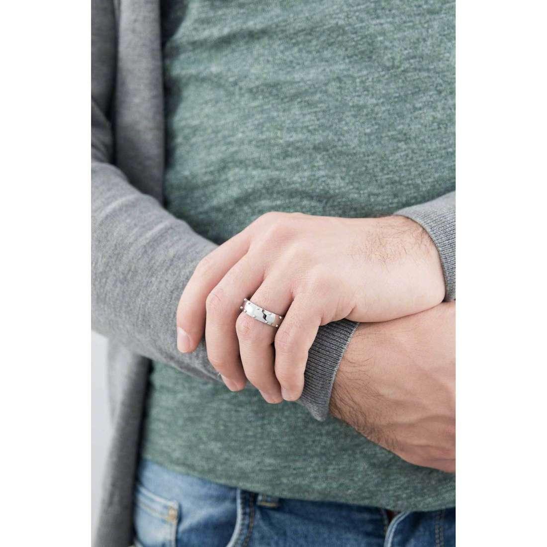 Morellato anelli Stile uomo SAGH12025 indosso