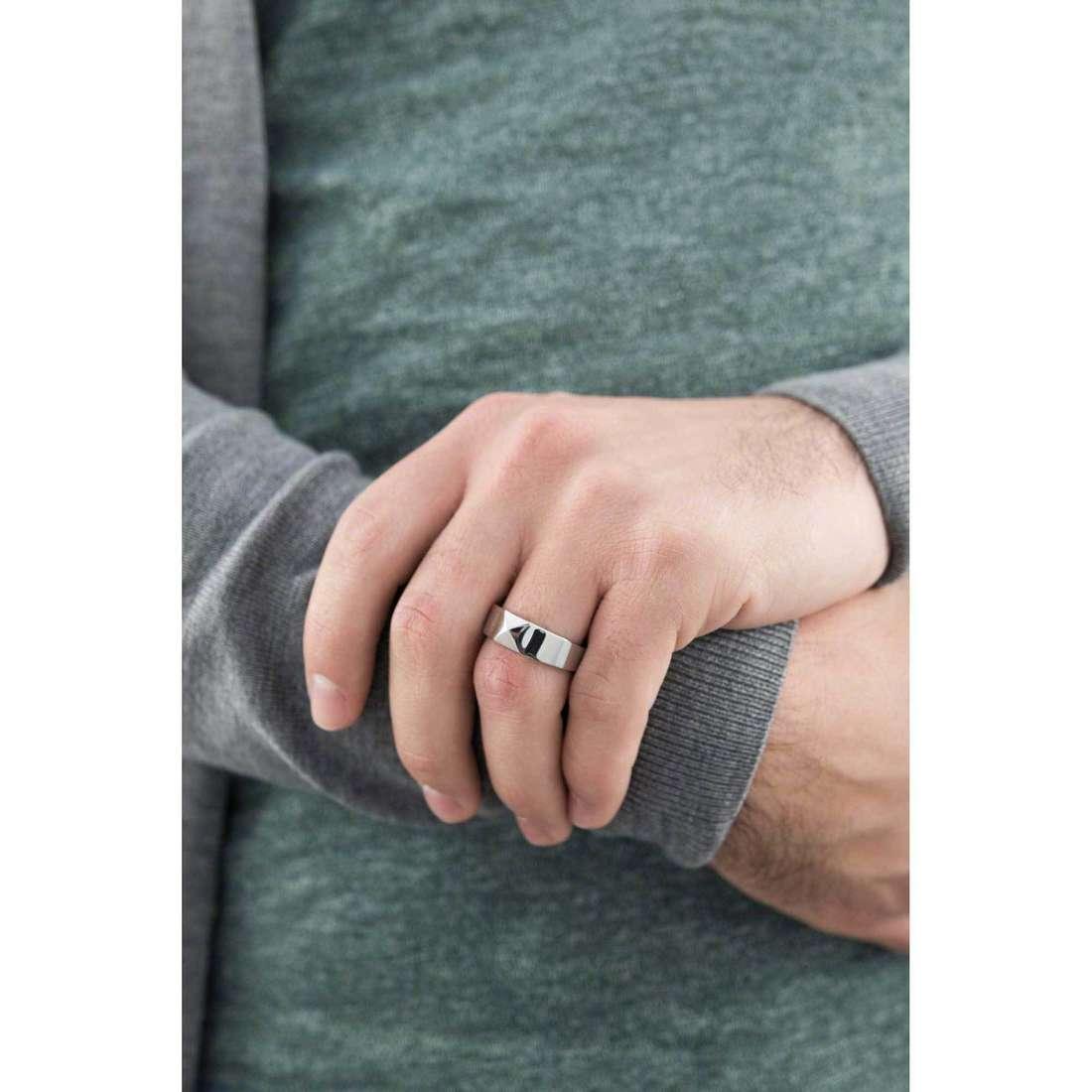 Morellato anelli Studs uomo SADT01023 indosso