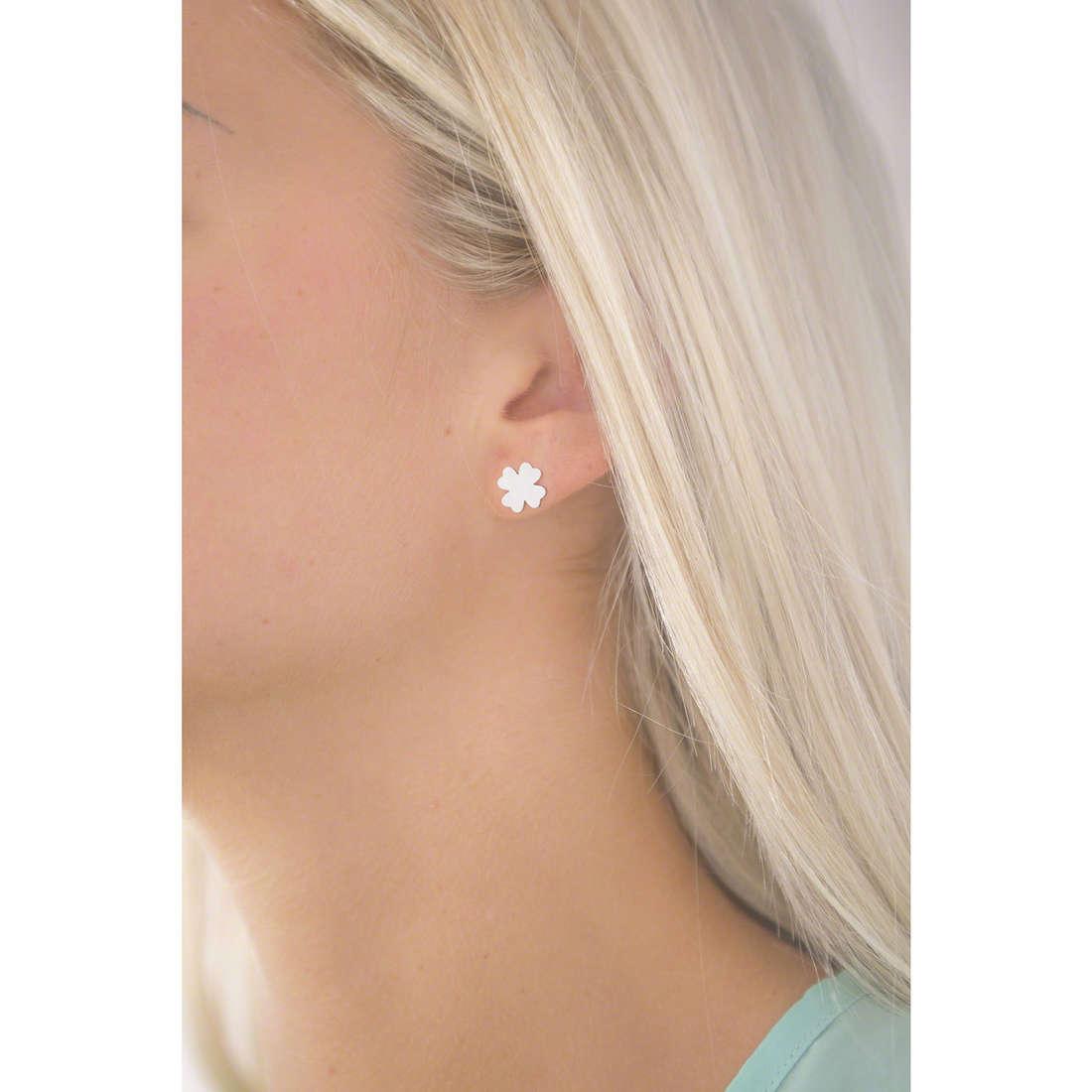4US Cesare Paciotti boucles d'oreille femme 4UOR1457W indosso