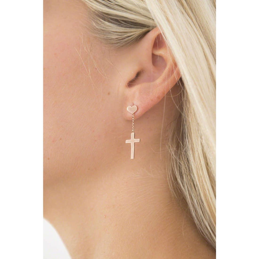 Amen boucles d'oreille femme ORCHR indosso