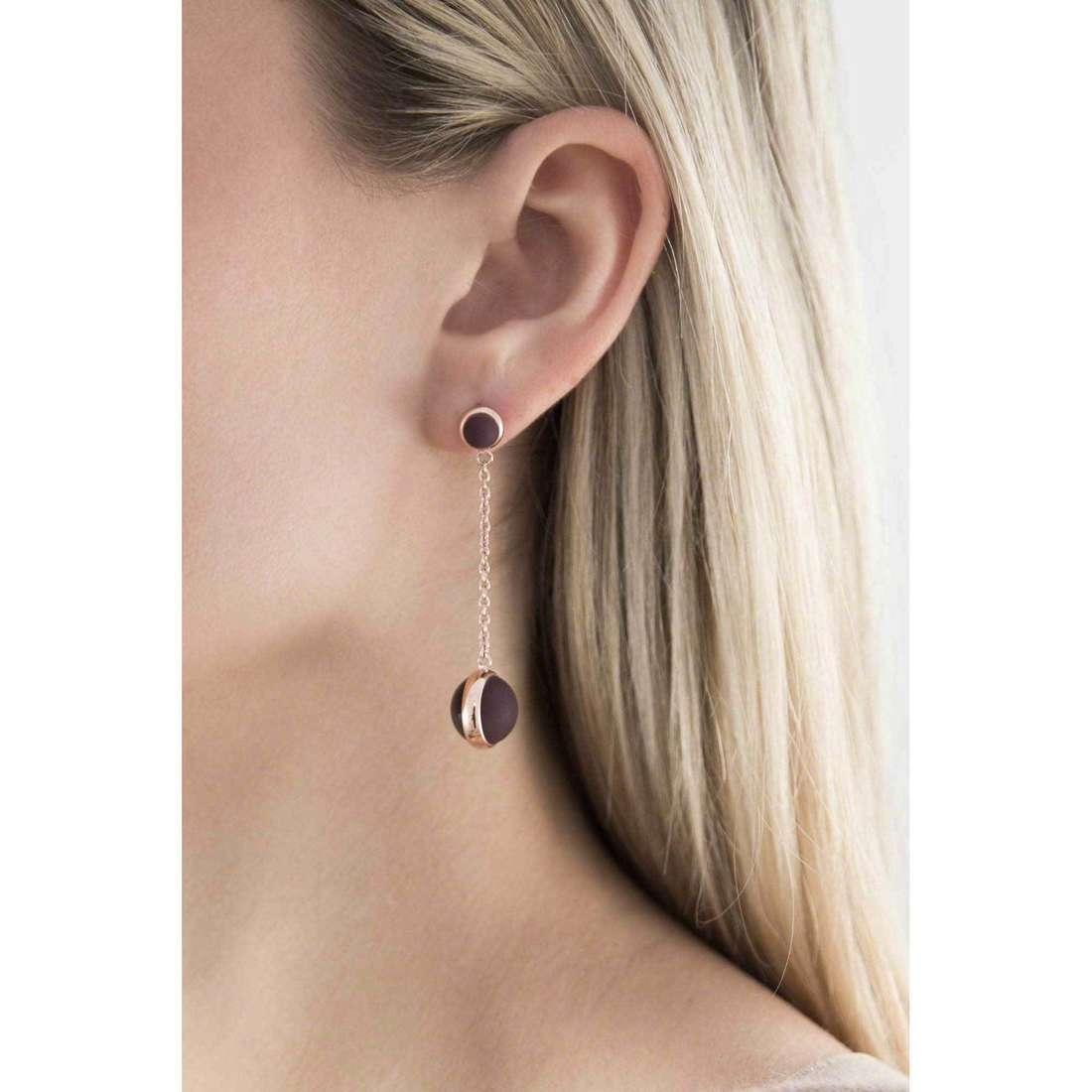 Breil boucles d'oreille Glassy femme TJ1740 indosso