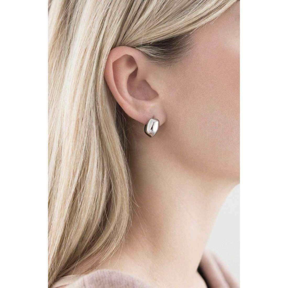 Breil boucles d'oreille Seeds femme TJ1519 indosso