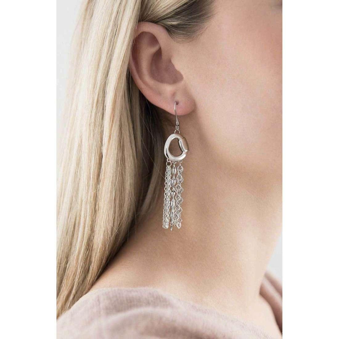 Breil boucles d'oreille SkyFall femme TJ1476 indosso