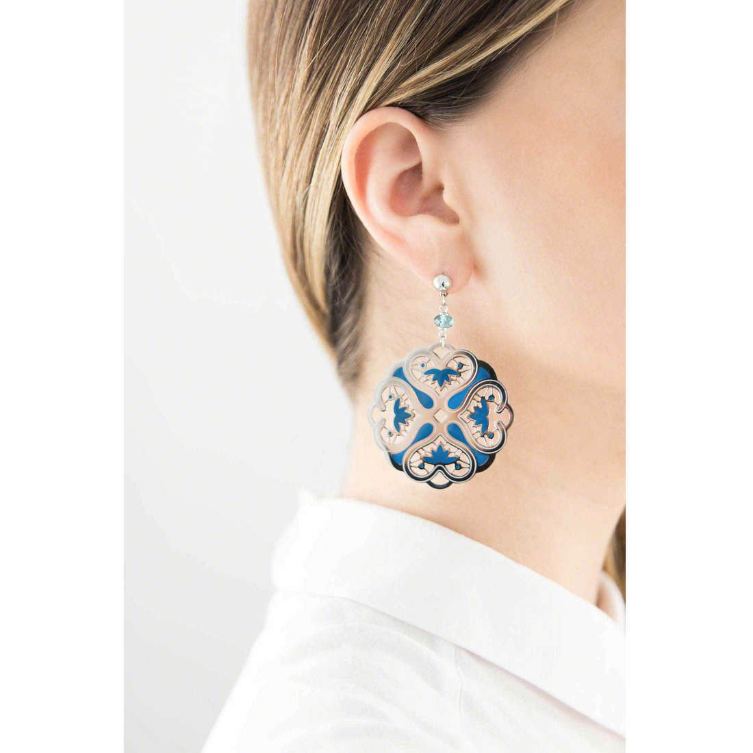 Brosway boucles d'oreille Chimera femme BKM22 indosso