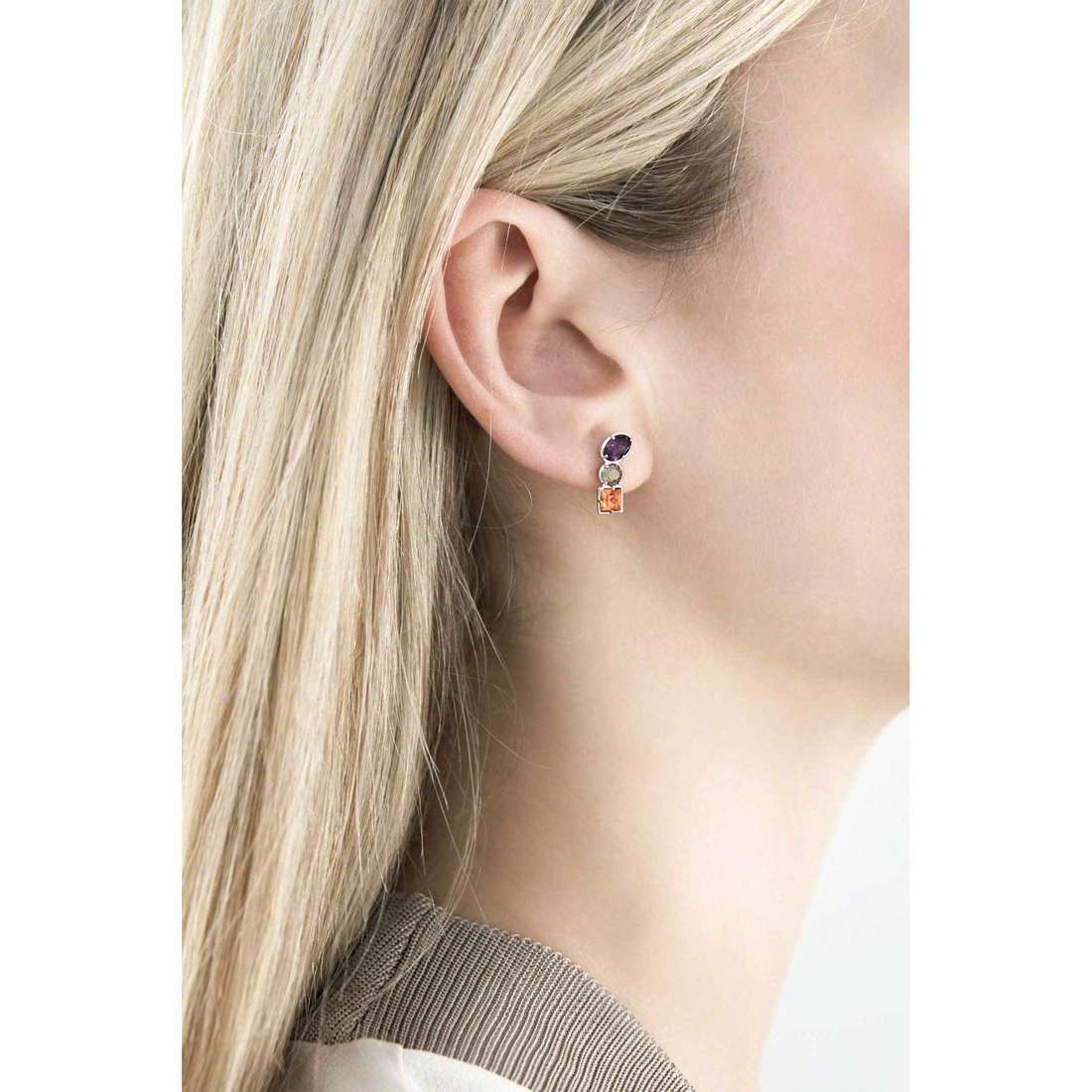 Brosway boucles d'oreille COLORI femme G9CL25 indosso