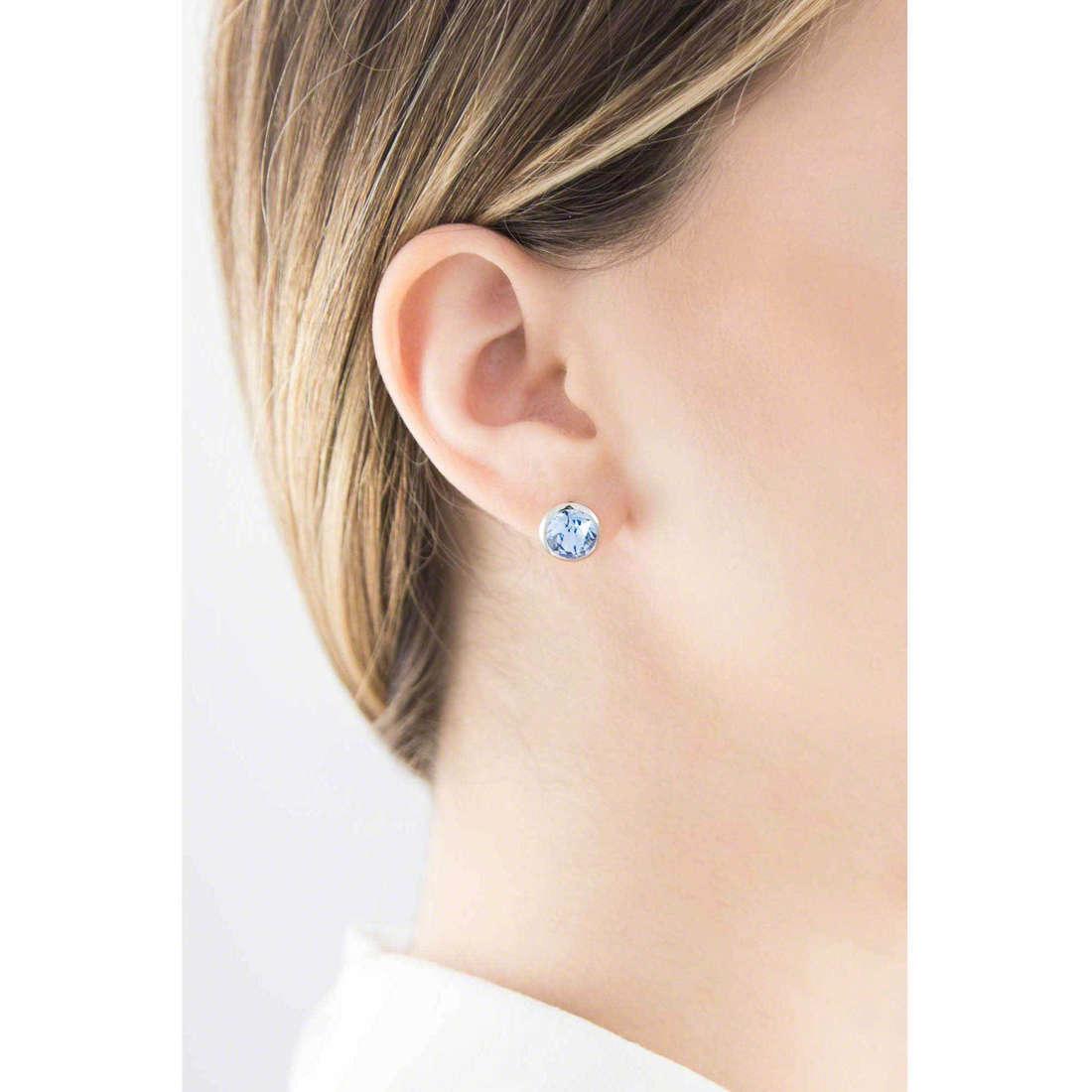 Brosway boucles d'oreille E-Tring femme BRT21 indosso