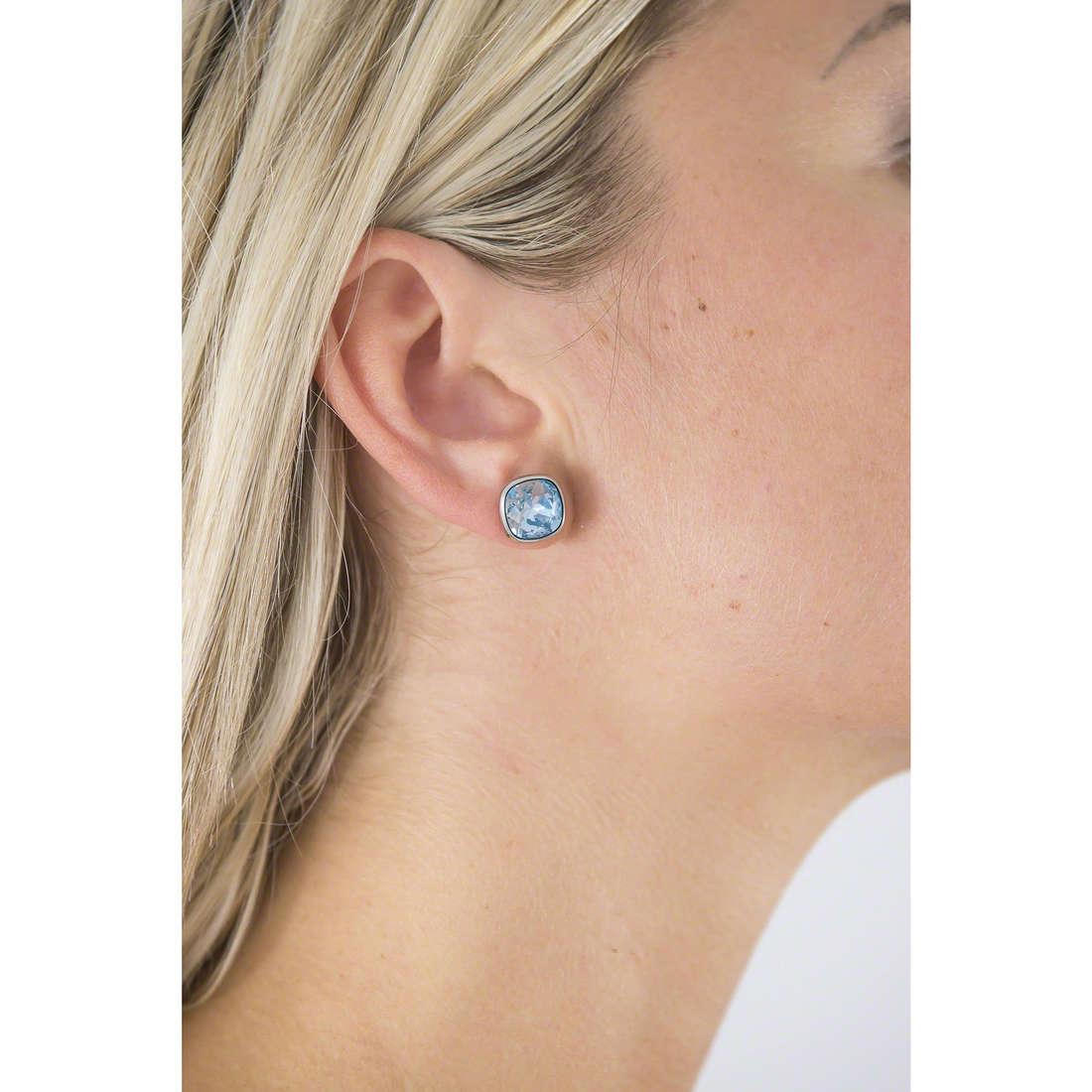 Brosway boucles d'oreille E-Tring femme BRT32 indosso