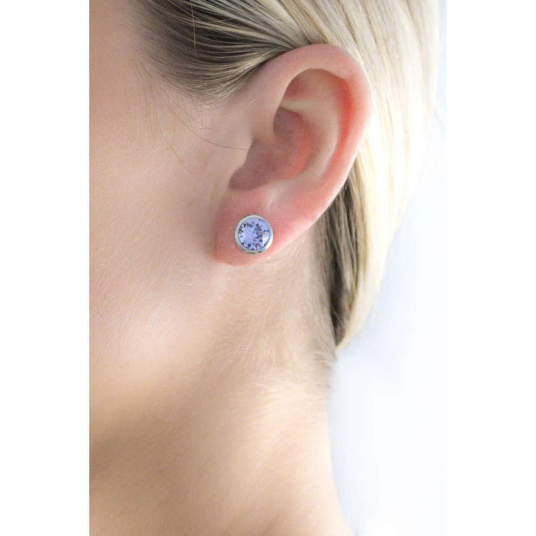 Brosway boucles d'oreille E-Tring femme BRT34 indosso
