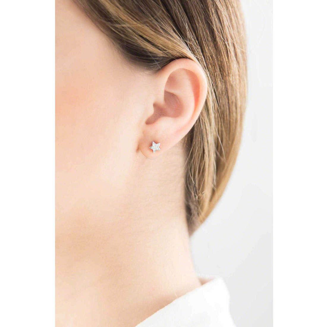 Brosway boucles d'oreille Etoile femme G9ET22 indosso