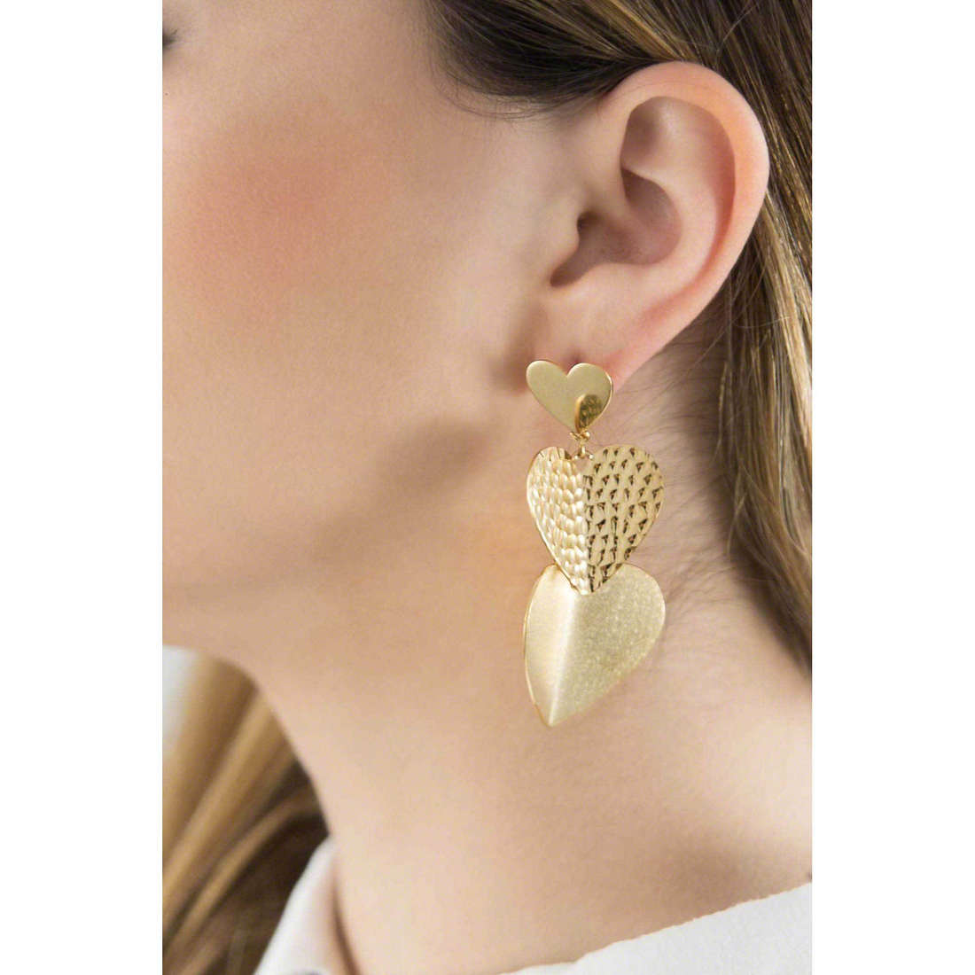 Brosway boucles d'oreille Heart Beat femme BHB21 indosso