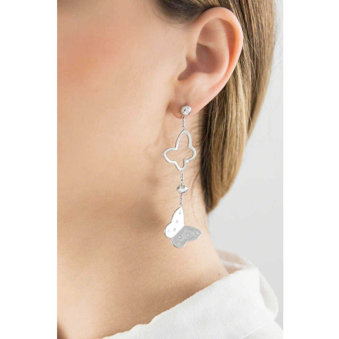 Brosway boucles d'oreille Lady femme BLD22 indosso