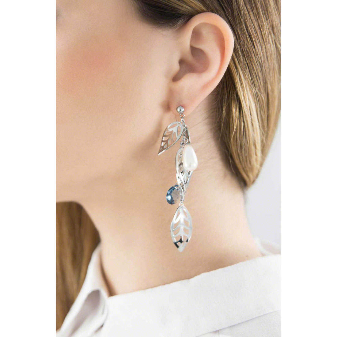 Brosway boucles d'oreille Leaves femme BLS21 indosso