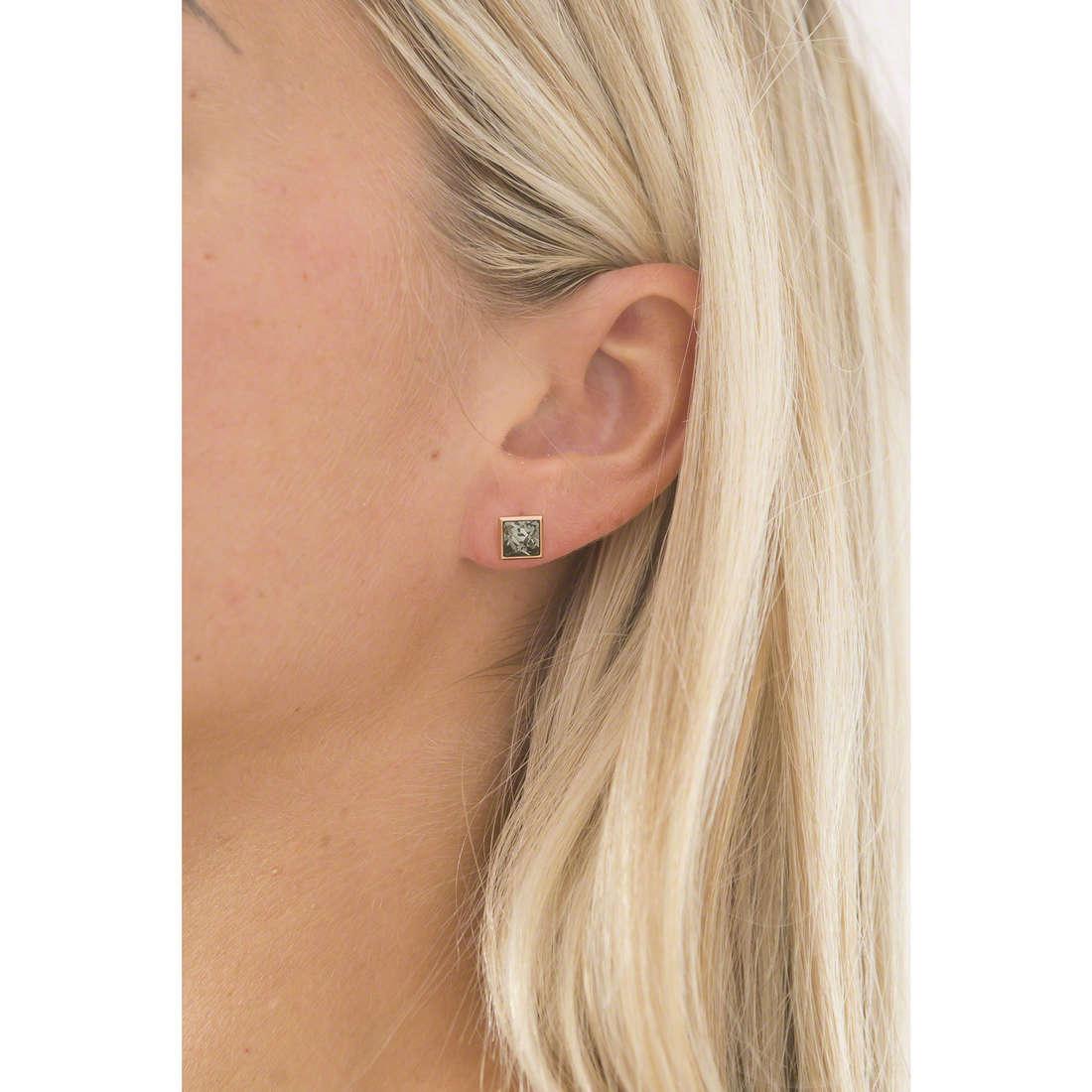 Brosway boucles d'oreille Polar femme BPL23 indosso
