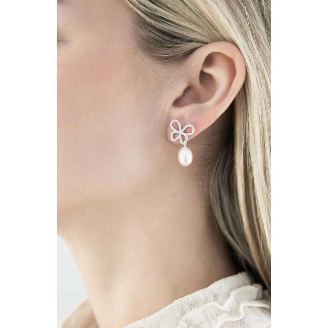 Comete boucles d'oreille Farfalle femme ORA 107 photo wearing