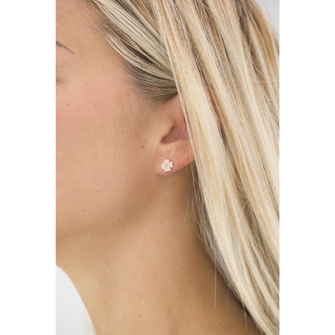 Comete boucles d'oreille Love Tag femme ORA 115 indosso