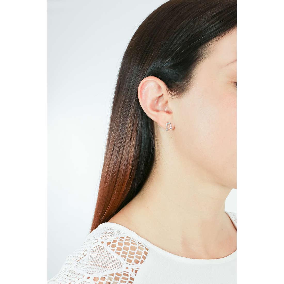 Comete boucles d'oreille Love Tag femme ORA 119 photo wearing
