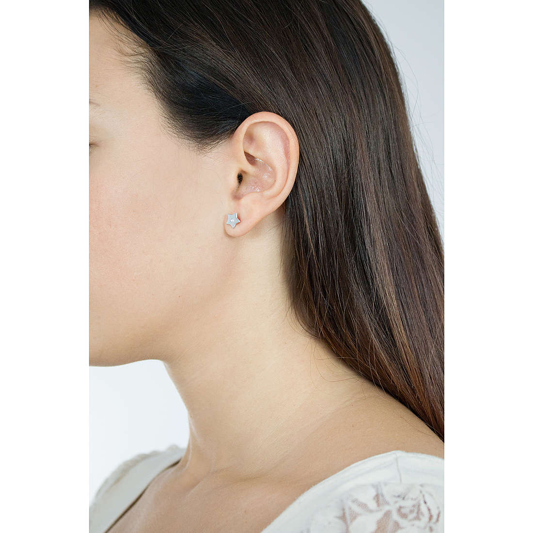 Comete boucles d'oreille Love Tag femme ORA 120 photo wearing