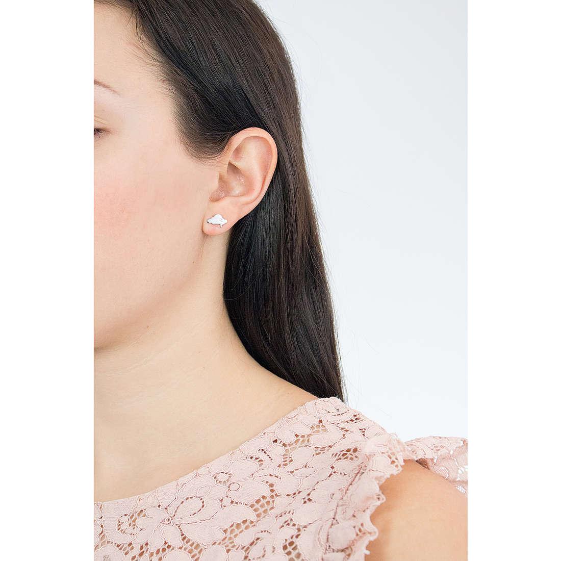 Comete boucles d'oreille Love Tag femme ORA 122 photo wearing