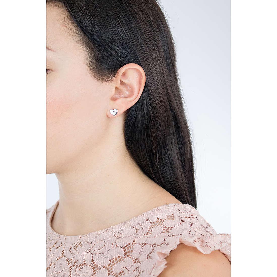 Comete boucles d'oreille Love Tag femme ORA 124 photo wearing
