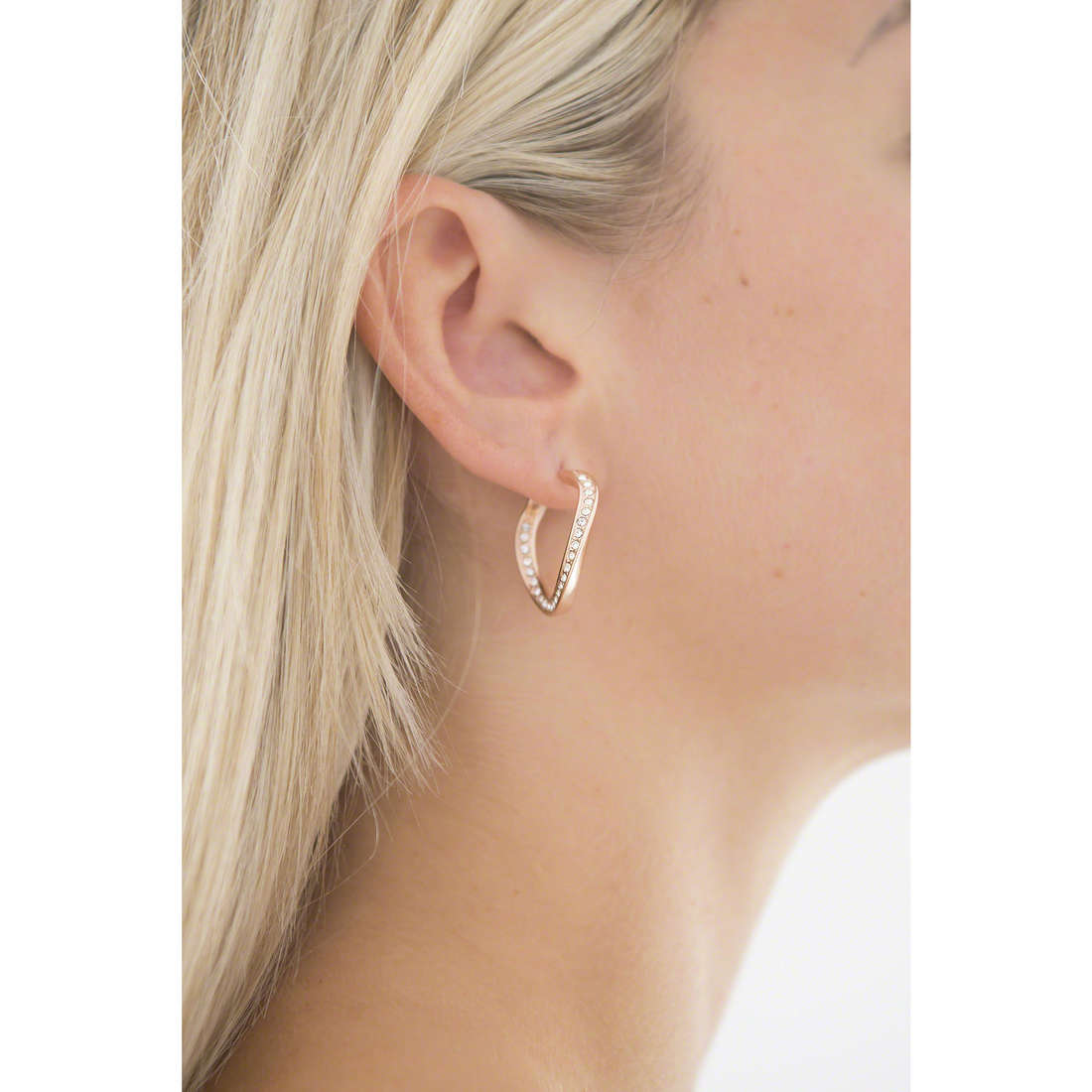 Fossil boucles d'oreille Fall 14 femme JF01299791 indosso