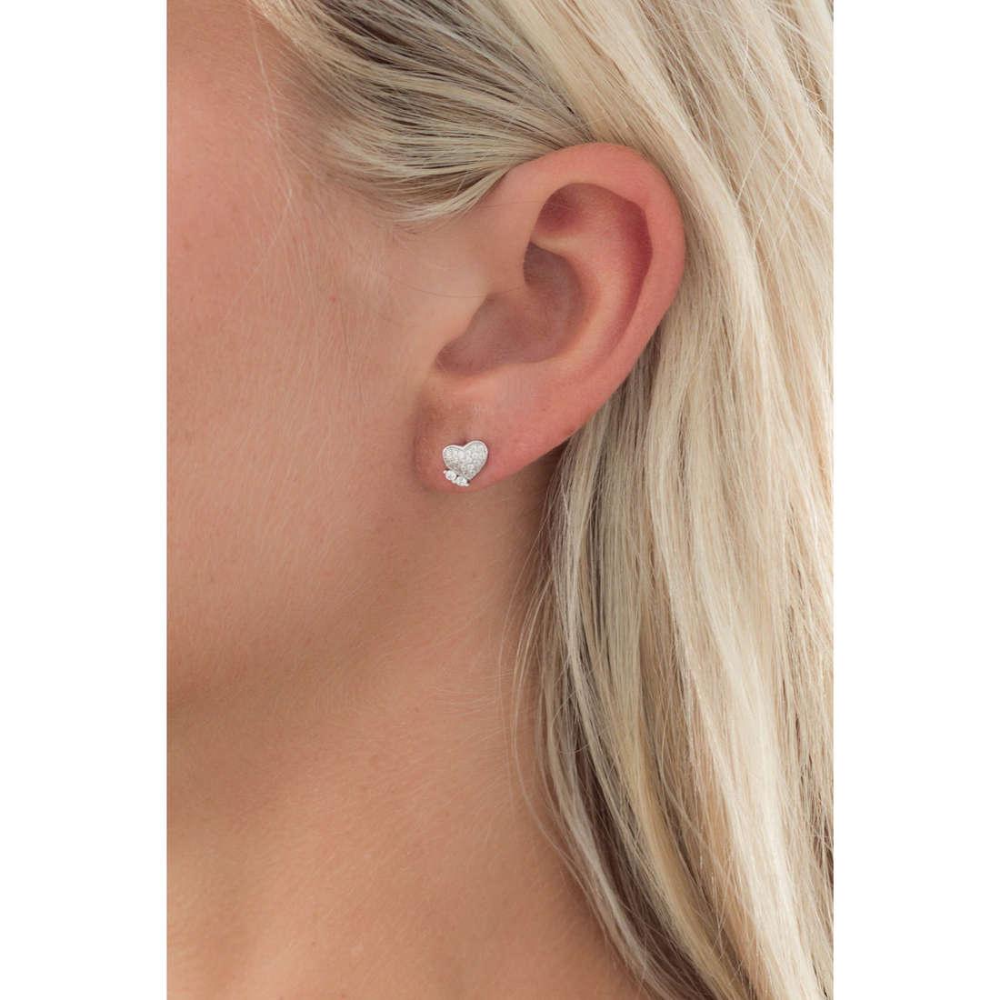 GioiaPura boucles d'oreille femme GPSRSOR1113 indosso