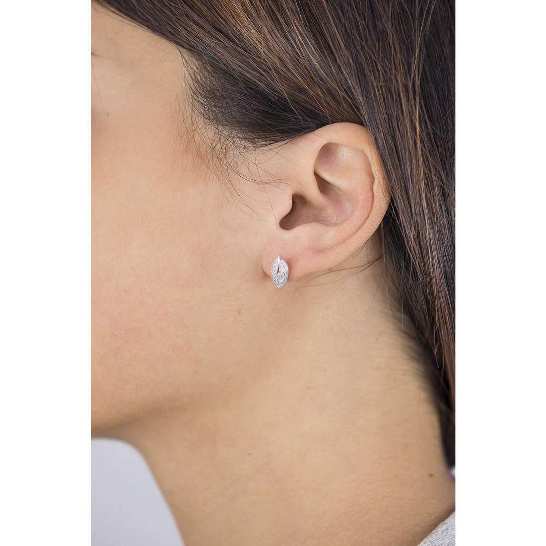GioiaPura boucles d'oreille femme GPSRSOR1269-R indosso