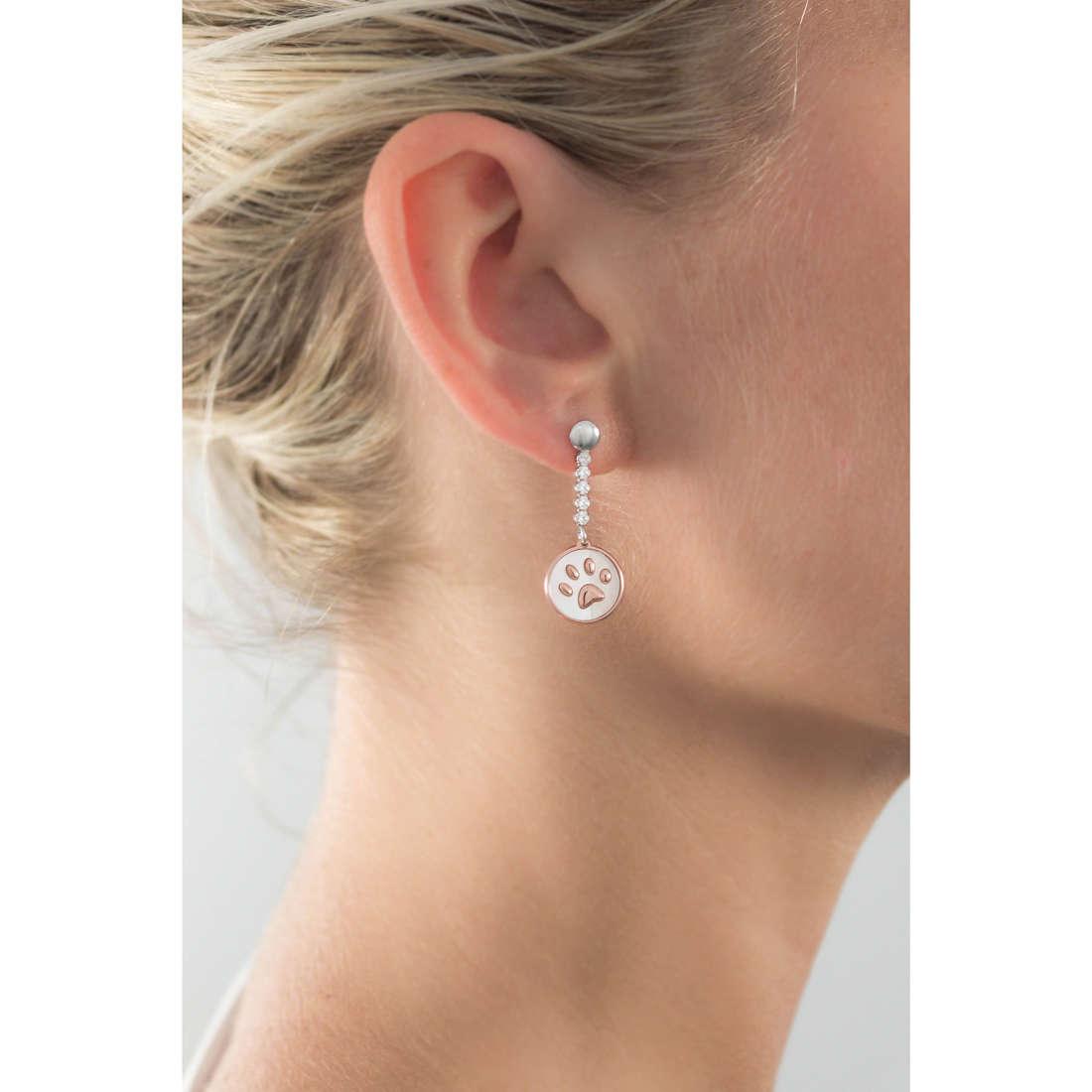 GioiaPura boucles d'oreille femme GPSRSOR2141 indosso