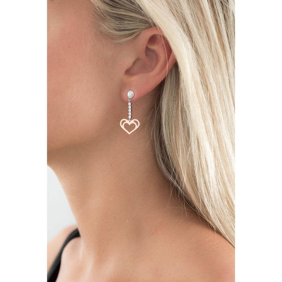 GioiaPura boucles d'oreille femme GPSRSOR2269 indosso
