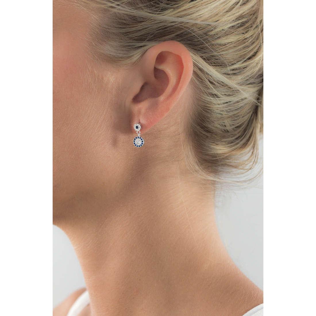 GioiaPura boucles d'oreille femme GPSRSOR2303-BL indosso