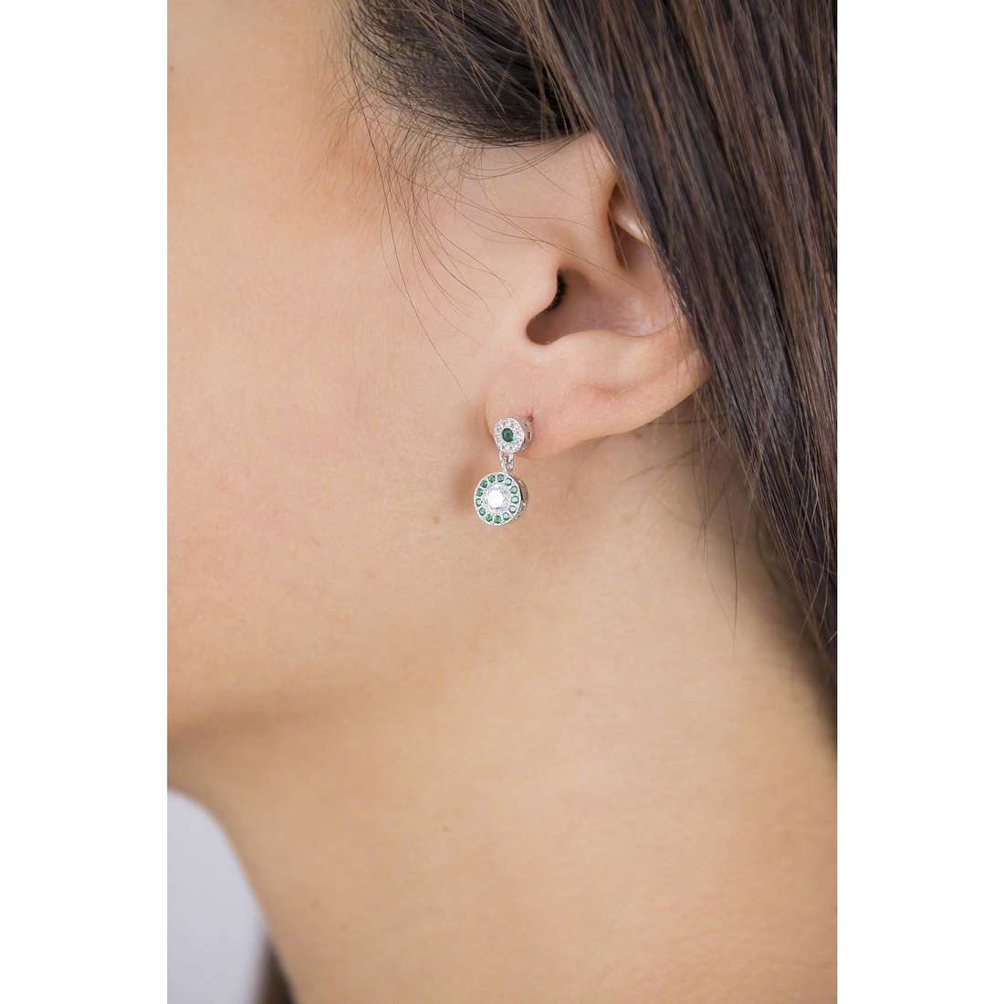 GioiaPura boucles d'oreille femme GPSRSOR2303-VE indosso