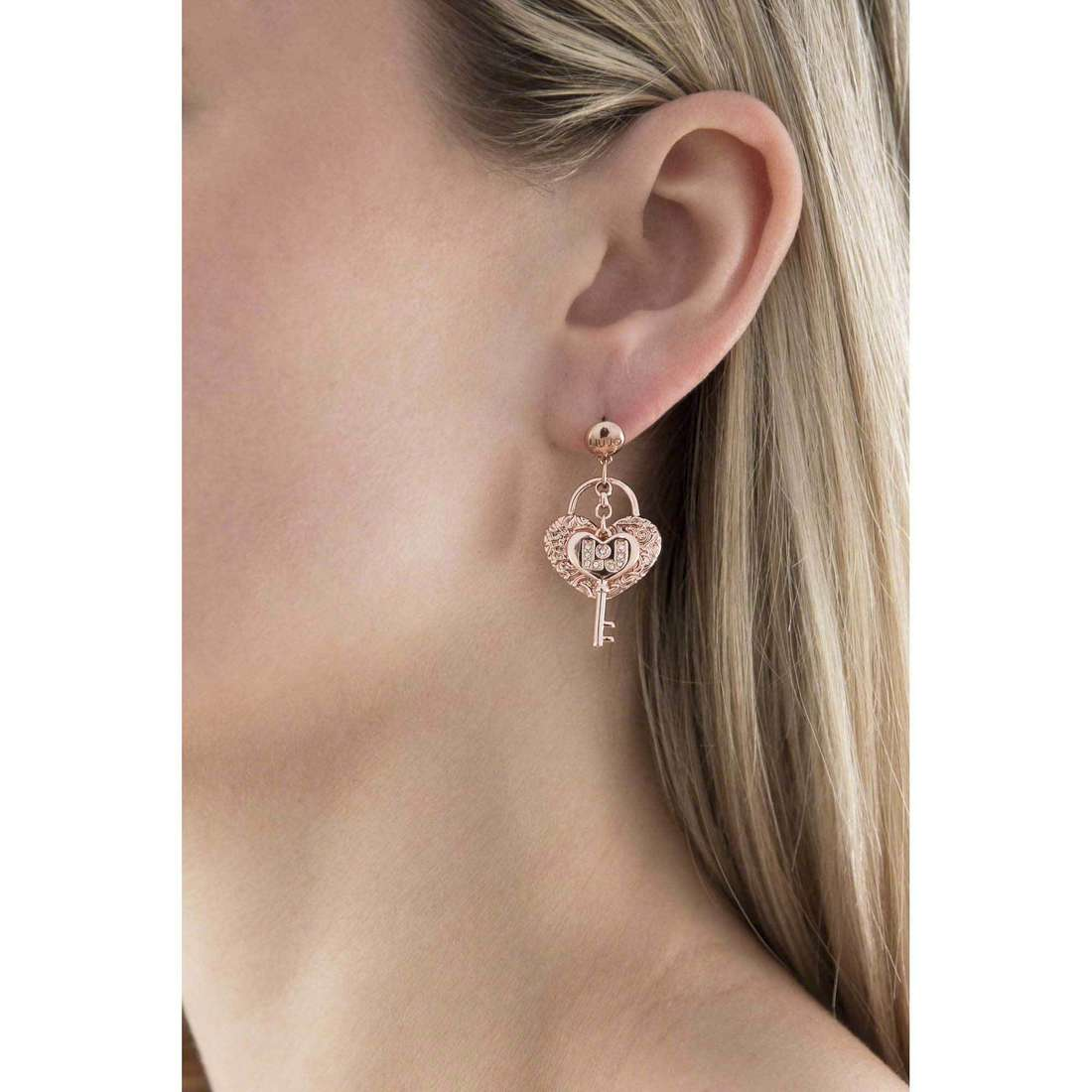 Liujo boucles d'oreille Destini femme LJ848 indosso