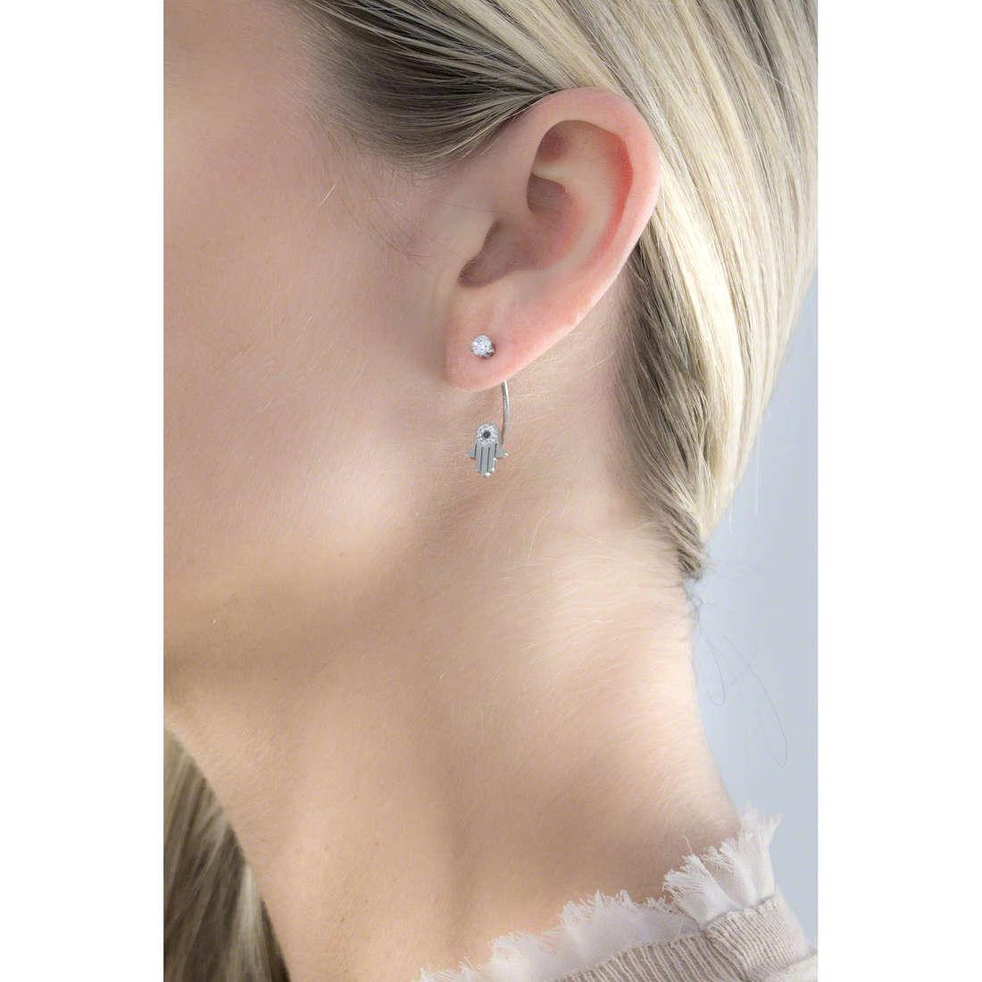 Marlù boucles d'oreille Mano Di Fatima femme 14OR022 indosso