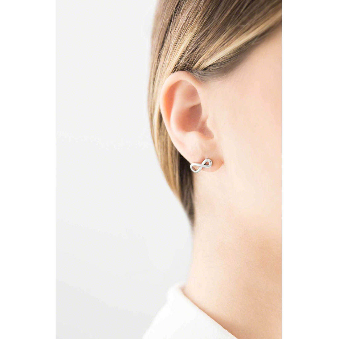 Marlù boucles d'oreille My infinity femme 18OR001 indosso