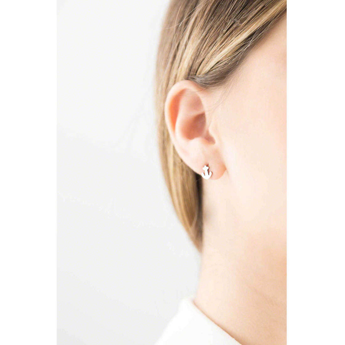 Marlù boucles d'oreille My infinity femme 18OR010 indosso